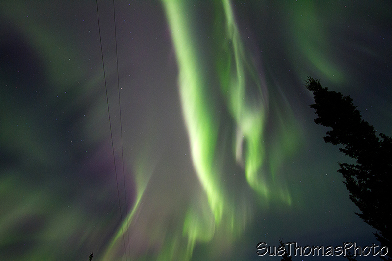 colourful northern lights in Yukon