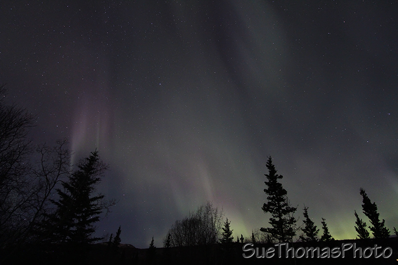 fading northern lights