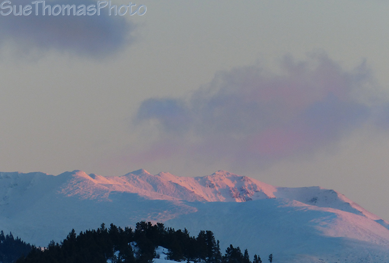 Pink mountain tops