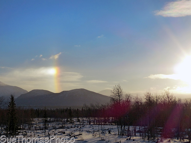 Sun dog along the Alaska Highway